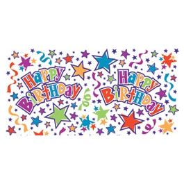 "Printed Gift Wrap 5'X30"" Roll Birthday Stars - PRNTGW-4305"