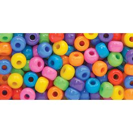 Pony Beads 11Mmx8Mm 200/Pkg Circus Multicolor - V289