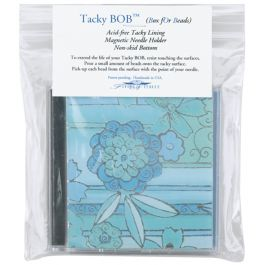 "Flying Needle Tacky Bob Adhesive Bead Box 4""X4"" - TACKYBOB"
