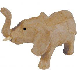 "Paper Mache Figurine 4.5"" Elephant - AP-607"
