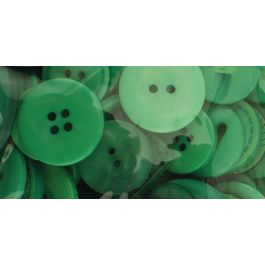 Buttons Galore Button Basics Assorted Buttons 5.5Oz Forest Green - BCB-100