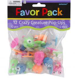 Party Favors 12/Pkg Creature Pop Ups - 390620