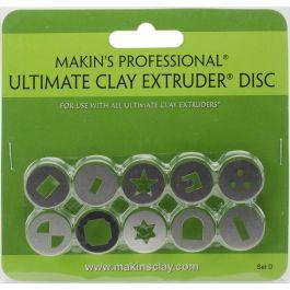 Makin'S Professional Ultimate Clay Extruder Discs 10/Pkg Set D - 35164