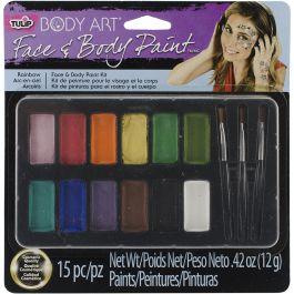 Tulip Body Art Face & Body Paint Kit Rainbow - 3238T-7
