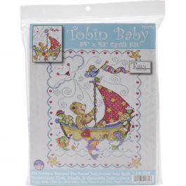 """Tobin Stamped Quilt Cross Stitch Kit 34""""X43"""" Sail Away - T21770"""