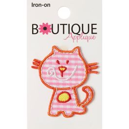 Blumenthal Iron On Appliques Pink Cat - A001300A-263