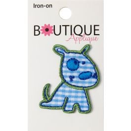 Blumenthal Iron On Appliques Blue Dog - A001300A-264