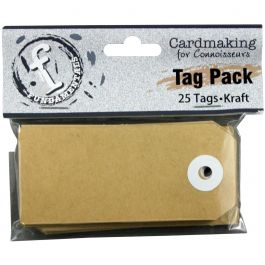 "Fundamentals Rectangle Tags 25/Pkg 3.5""X1.5"" Kraft - FNT82"