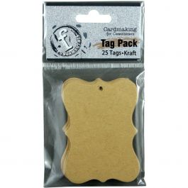 "Fundamentals Scallop Tags 25/Pkg 2.75""X2"" Kraft - FNT0704"
