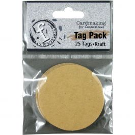 "Fundamentals Circle Tags 25/Pkg 2"" Kraft - FNT43"