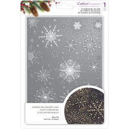 """Crafter'S Companion 3D Embossing Folder 5""""X7"""" Sparkling Snowflake - EF53D-XSSNO"""