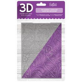 """Crafter'S Companion 3D Embossing Folder 5""""X7"""" Zen Garden - EF3D-ZENG"""