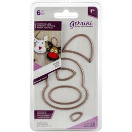 "Crafter's Companion Gemini Multi-Media Mini Dies 6/Pkg-Reindeer Project 2.3""X2.6"""