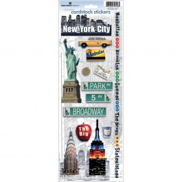 "Paper House Cardstock Stickers 4.625""X13"" New York City - STCX0034"