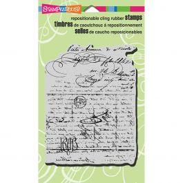 Stampendous Cling Stamp Vintage Letter - CRR221