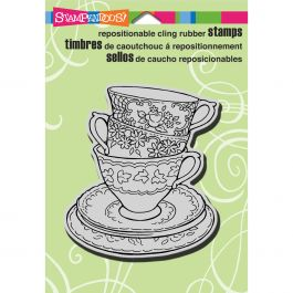 Stampendous Cling Stamp Teacup Trio - CRW138