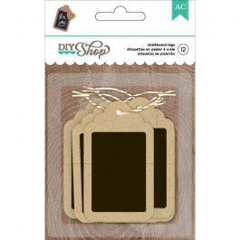 Diy Shop 2 Tags 12/Pkg Kraft W/Chalkboard - 369049