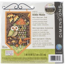 "Dimensions/Debbie Mumm Counted Cross Stitch Kit 5""X8"" Fall Banner (14 Count) - 72-74135"