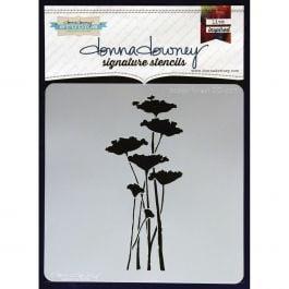 "Donna Downey Signature Stencils 8.5""X8.5"" Poppy Forest - DD-ST-7"