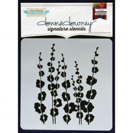"Donna Downey Signature Stencils 8.5""X8.5"" Poppy Stems - DD-ST-11"