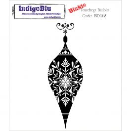 "Indigoblu Cling Mounted Stamp 4""X3"" Teardrop Bauble Dinkie - IND0118"