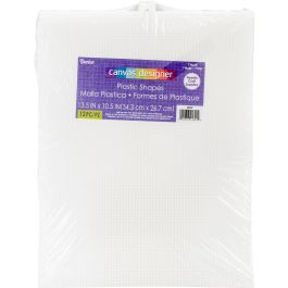 "Darice Plastic Canvas 7 Count 10.5""X13.5: 12pcs 6/Pk-Clear"