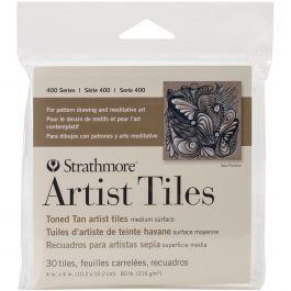 """Strathmore Artist Tiles 4""""X4"""" 30/Pkg Toned Tan - 62105977"""