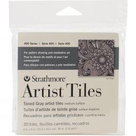 """Strathmore Artist Tiles 4""""X4"""" 30/Pkg Toned Gray - 62105978"""