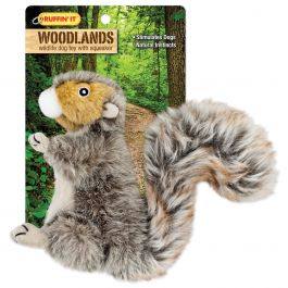 Woodlands Small Plush Squirrel Dog Toy  - 16275