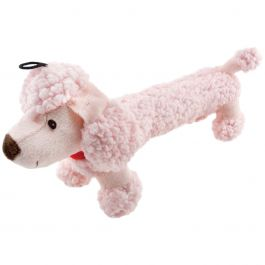 Fetch A Pal With Squeaker Plush Poodle Dog Toy  - 16216