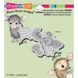 Stampendous House Mouse Cling Stamp Make A Wish - HMCV13