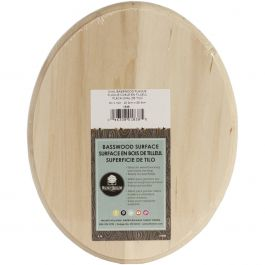 """Basswood Oval Plaque 8""""X10""""X.75"""" - 1838"""
