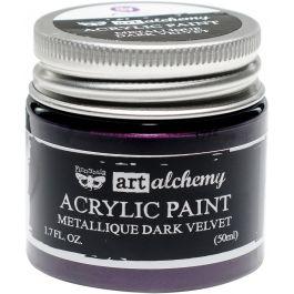 Finnabair Art Alchemy Acrylic Paint 1.7 Fluid Ounces Metallique Dark Velvet - AAAP-63125