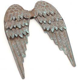 """Copper Patina Metal Angel Wings 8""""X10""""  - METANG"""