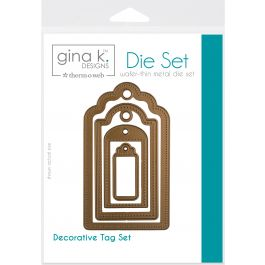 "Gina K Designs 4 Nested Decorative Tags Dies .625"" To 4"" - 18050"