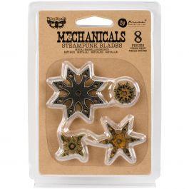 Finnabair Mechanicals Metal Embellishments Steampunk Blades 8/Pkg - 963446