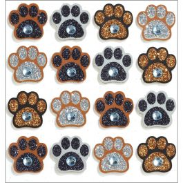Jolee'S Cabochon Dimensional Repeat Stickers Paw Prints - E5021171