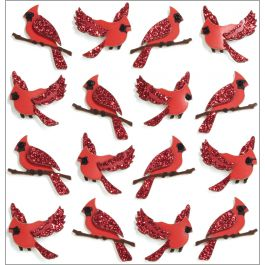 Jolee'S Cabochon Dimensional Repeat Stickers Cardinals - E5021175