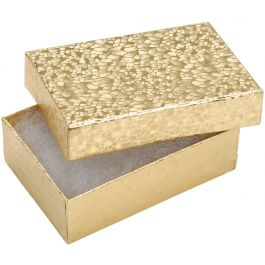 """Jewelry Boxes 3""""X2.125""""X1"""" 6/Pkg Gold - 1164-91"""