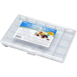 "Plastic Storage Box 10.5""X6.5""X.875"" 21 Compartments - 2025-180"