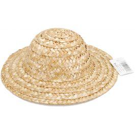"Round Top Straw Hat 8.5"" 9"" Natural - 2814"