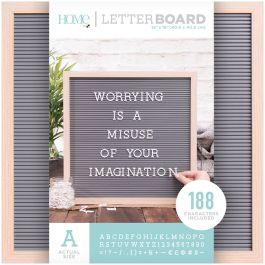 "Dcwv Framed Letterboard 16""X16"" Natural W/Gray Insert - LB006014"