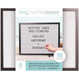 """Dcwv Framed Letterboard 20""""X16"""" Black W/White Insert - LB006023"""
