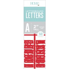 "Dcwv Letterboard Letters & Characters 2"" 148/Pkg Red - LP006000-14"