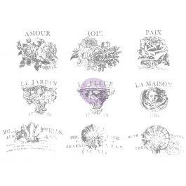 "Iron Orchid Designs Decor Transfer Rub Ons 4"" Pot, 12""X8.5"" - 815639"