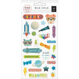 Wild Child Puffy Stickers Boy - 310589
