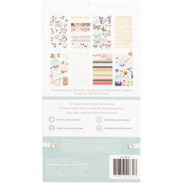"American Crafts Sticker Book 4.75""X8"" 30/Pkg 1Canoe2 - 344870"