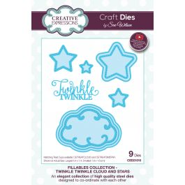 Creative Expressions Craft Dies By Sue Wilson Fillables Twinkle Twinkle Clouds & Stars - CED21015