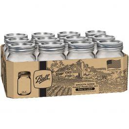 Ball(R) Regular Mouth Canning Jars 12/Pkg Pint, 16Oz - 1501