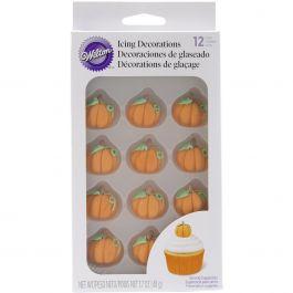 Icing Decorations 12/Pkg 3D Pumpkins - W7100134